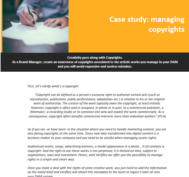 Managing copyright requirements