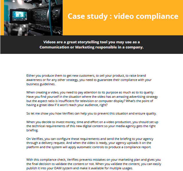 How to check you video files compliance ?